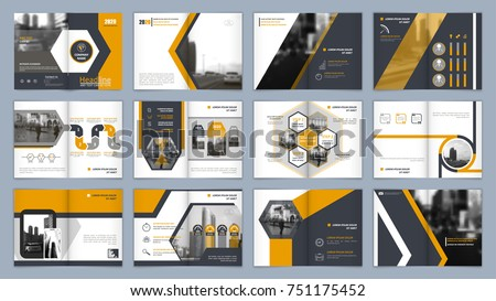 brochure template book cover design title stock vector royalty free