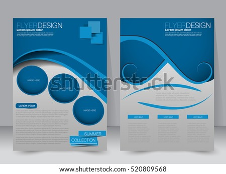brochure template business flyer annual report のベクター画像素材