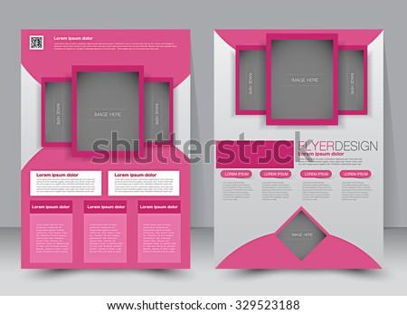 brochure template business flyer editable a 4 stock vector royalty