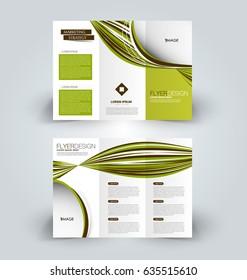 tri fold brochure design creative business flyer template editable