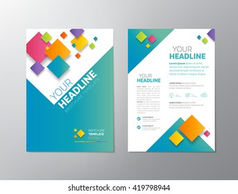 abstract medical background flyer brochure template のベクター画像
