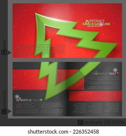 brochure template design christmas and new year symbols vector illustration eps 10