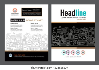 Brochure template design. Concept of architecture design. construction brochure layout,, layout in A4 size