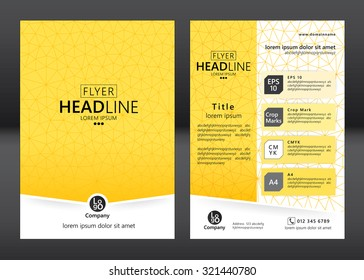 Brochure template design. Geometric pattern square. Vector illustration of geometry graphic design.