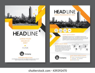 Brochure template design. Vector illustration