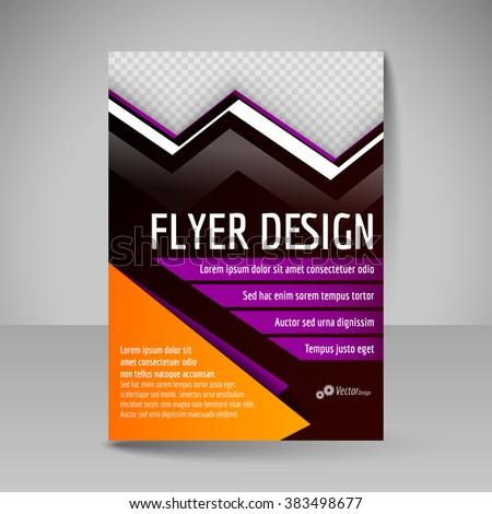 Brochure Template Editable A4 Poster For Design Presentation Education Website Magazine