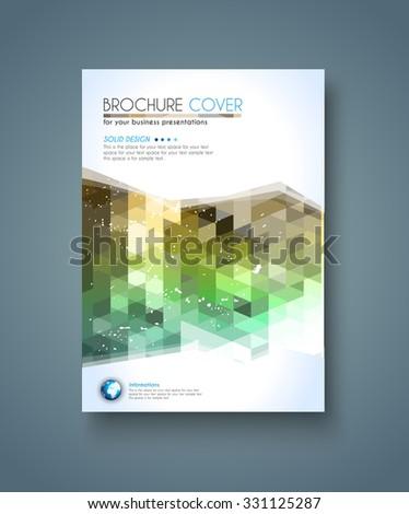 Brochure Template Flyer Design Depliant Cover Stock Vector