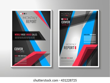 brochure template flyer design depliant cover stock vector royalty