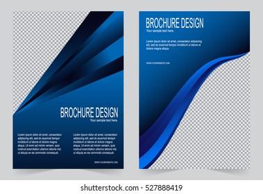 Brochure template, Flyer design navy blue color template