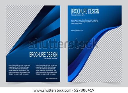 brochure template flyer design navy blue のベクター画像素材