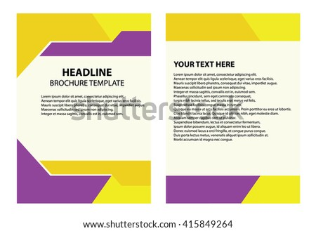 Brochure Template Illustrator Headline Like Magazine Stock Vector