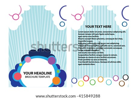 Brochure Template Illustrator Magazine Template Design Stock Vector