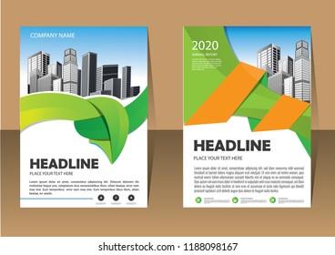 brochure template design concept industrial plant stock vector