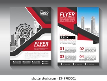 Brochure template layout, cover design annual report, magazine, flyer or booklet in A4 with blue geometric shapes on polygonal background