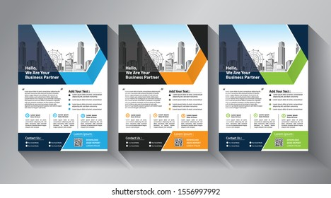 Brochure template layout, cover design annual report, magazine, flyer or booklet background