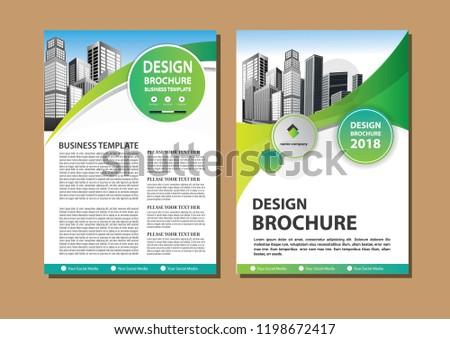 Brochure Template Layout Cover Design Annual Image Vectorielle De