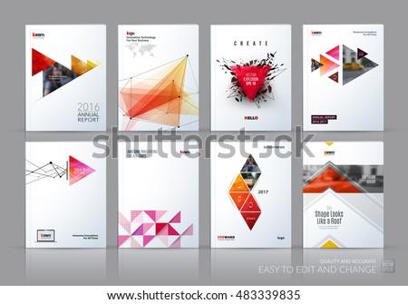 Brochure template layout cover design annual for Riviste design