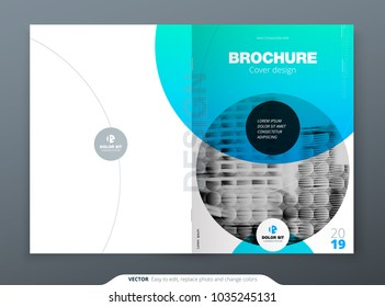 Brochure template layout design. Corporate business annual report, catalog, magazine, brochure, flyer mockup. Creative modern bright concept circle round shape