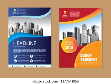 Brochure template layout design. Corporate business annual report, catalog, magazine, flyer