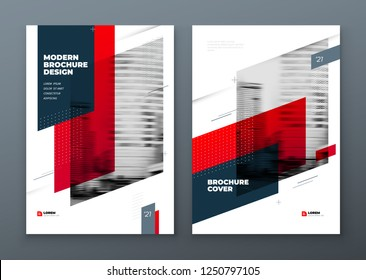 Brochure template layout design. Corporate business annual report, catalog, magazine, flyer mockup. Creative modern bright concept dynamic shape