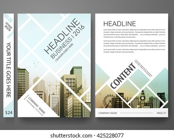 Brochure template vector. Flyers report business magazine poster. Abstract square and city. Cover book presentation minimal  portfolio.  Layout design in A4 size.