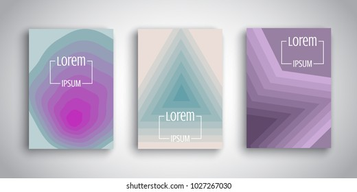 Brochure templates with abstract retro designs