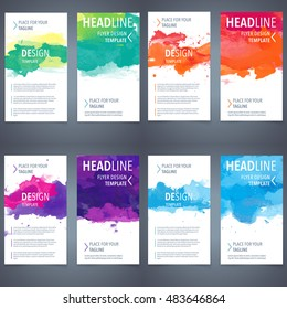brochure watercolor set color banner vector folder or advertising pattern series layout covering design annual report magazine watercolor background valuable for any project where a platter of color m