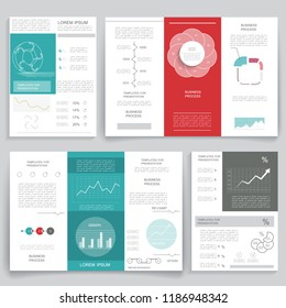 Brochures and templates for business data visualization