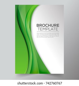 Brockhure template with backgraund abstract