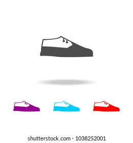 Brogue Loafers Shoes Icon Long Shadow Stock Vector (Royalty
