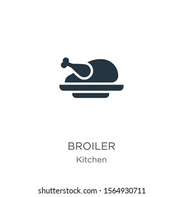 Broiler icon vector. Trendy flat broiler icon from kitchen collection isolated on white background. Vector illustration can be used for web and mobile graphic design, logo, eps10