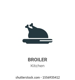 Broiler vector icon on white background. Flat vector broiler icon symbol sign from modern kitchen collection for mobile concept and web apps design.