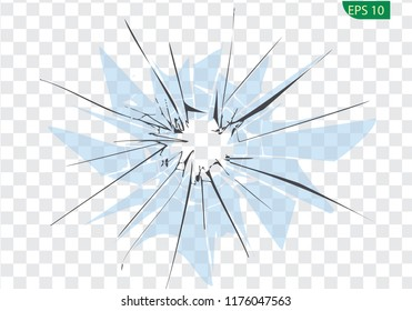 Broken blue glass, cracks, bullet marks on glass.  You can easy change colors or sizes. High resolution