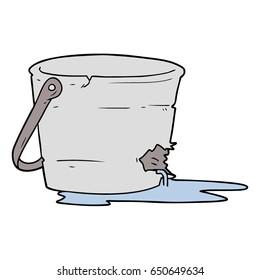 broken bucket cartoon