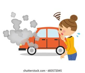 Broken cars and women.