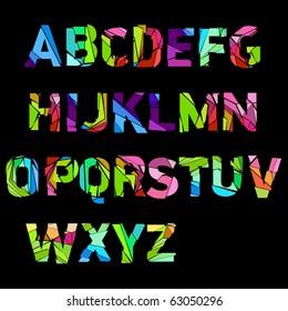 broken color alphabet