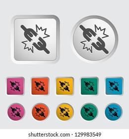 Broken connection single icon. Vector illustration.