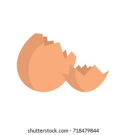 Broken egg icon. Flat illustration of Broken egg vector icon for web isolated on white background