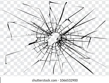 Broken glass, cracks on glass, high resolution