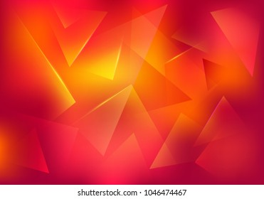 Broken Glass Red and Yellow Background. Explosion, Destruction Cracked Surface Illustration. Abstract 3d Bg for Dj Party Posters, Banners or Advertisements.