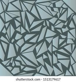 Broken glass. Shattered glass, windows on a dark background. Vector stock illustration.