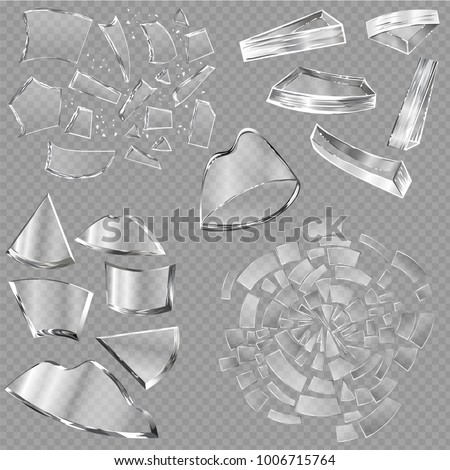 Broken glass vector sharp