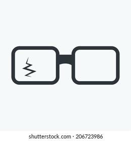 broken glasses icon
