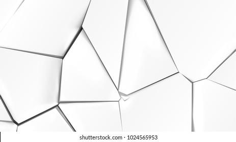 Broken grey surface, vector illustration