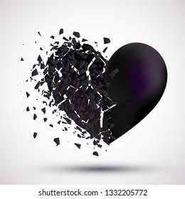 Broken heart background vector illustartion