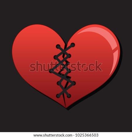 Broken Heart Heartbreak Flat Icon Broken Stock Vector Royalty Free