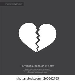 Black Broken Heart Images Stock Photos Vectors Shutterstock