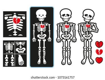 Broken Heart Skeleton
