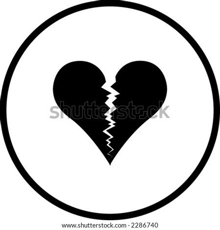 Broken Heart Symbol Stock Vector Royalty Free 2286740 Shutterstock