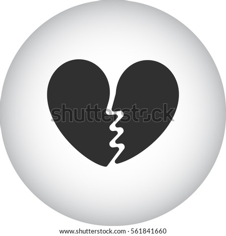 Broken Heart Symbol Sign Silhouette Icon Stock Vector Royalty Free